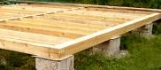 Опорно-столбчатый фундамент для деревянного дома
