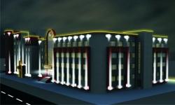 подсветка фасадов зданий с помощью светильников