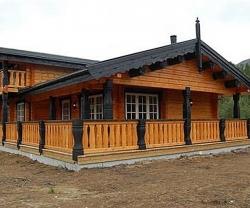 фото деревянного загородного дома