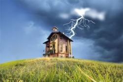 Молниеотвод для домов из дерева